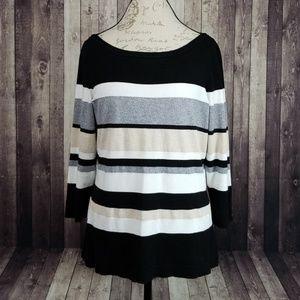 White House Black Market striped pullover sweater